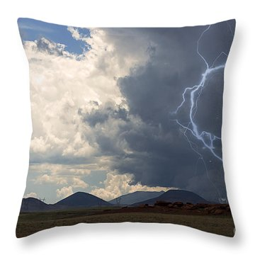 Arizona Desert Lightning  Throw Pillow