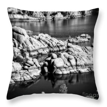 Throw Pillow featuring the photograph Arizona Granite 2 by Lee Craig