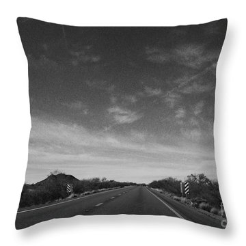 Arizona Highway 70 West Throw Pillow by Methune Hively