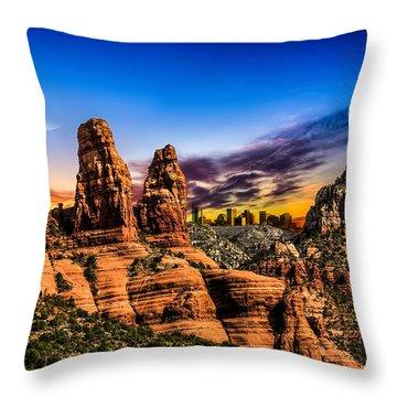 Arizona Life Throw Pillow by Fred Larson