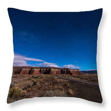 Arizona Mesa At Night Throw Pillow