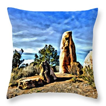 Arizona Monolith Throw Pillow
