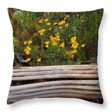 Arizona Poppy Throw Pillow