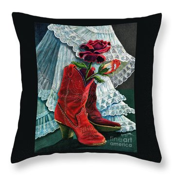 Arizona Rose Throw Pillow by Marilyn Smith