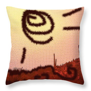 Throw Pillow featuring the photograph Arizona Shall Over-shine Jihad. by Carolina Liechtenstein