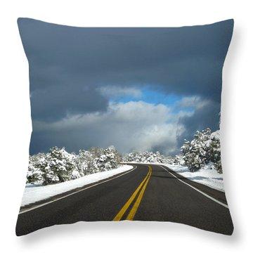 Arizona Snow 1 Throw Pillow