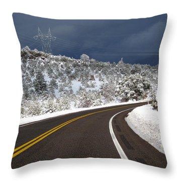 Arizona Snow 2 Throw Pillow