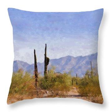 Arizona Sonoran Desert Throw Pillow by Betty LaRue