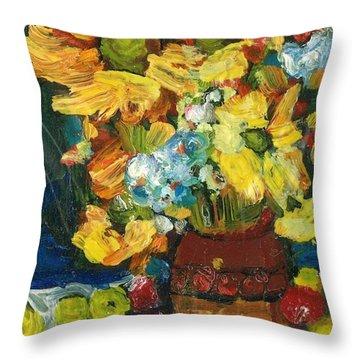 Arizona Sunflowers Throw Pillow