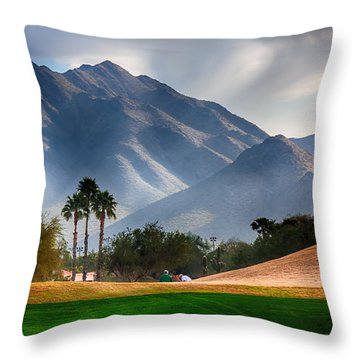 Arizona Sunrise Golfing Throw Pillow