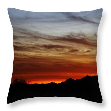 Arizona Sunset Skies Throw Pillow