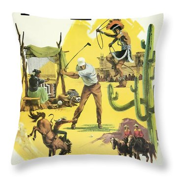 Arizona Travel Delta Airlines Throw Pillow