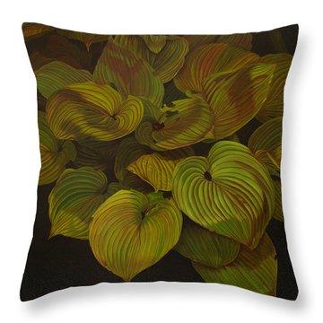 Arkansas Green Throw Pillow by Thu Nguyen