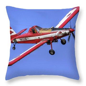 Arkansas Razorbacks Air Tractor Throw Pillow by Jason Politte