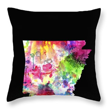 Arkansas State Throw Pillow by Daniel Hagerman