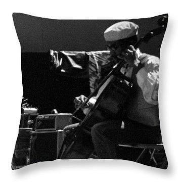 Arkestra Cellist Uc Davis Quad Throw Pillow