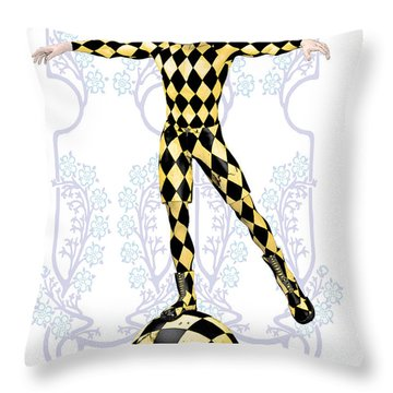 Harlequin Tightrope Throw Pillow