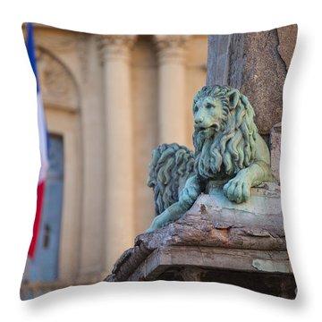 Arles Place De La Republique Throw Pillow by Brian Jannsen