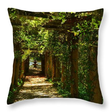 Arlie Italian Pergola Garden Throw Pillow