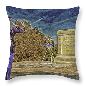 Arlington Cemetery Tomb Of The Unknowns Throw Pillow