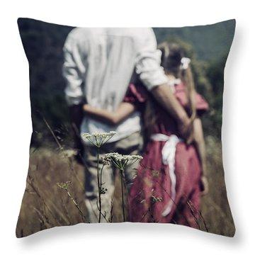 Arm In Arm Throw Pillow by Joana Kruse