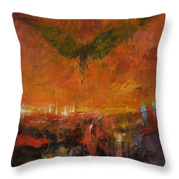Armageddon Throw Pillow by Michael Creese