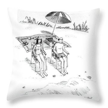 Armand, Which Summer Did We Become Chair People? Throw Pillow