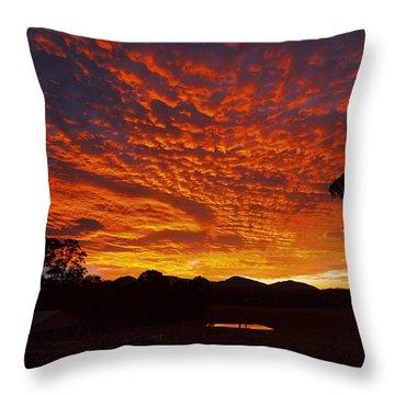 Armanisunset Throw Pillow