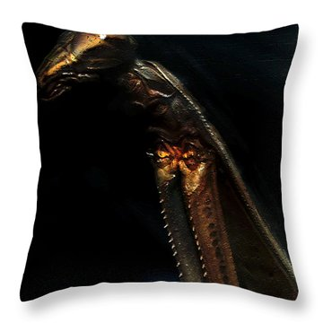 Armored Praying Mantis Throw Pillow