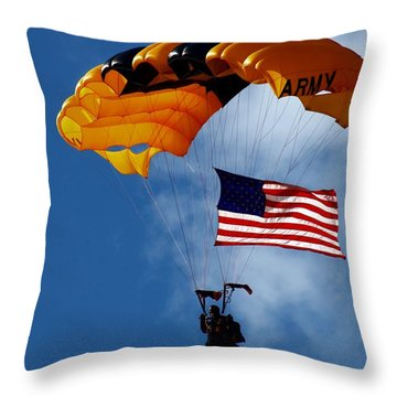 Throw Pillow featuring the photograph Army Airborne by Bob Pardue