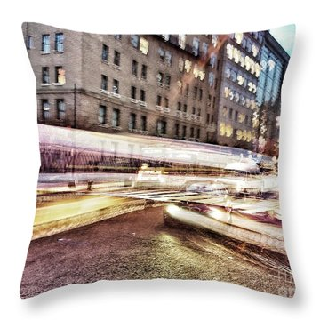 Army And Navy Rush Hour Throw Pillow by Jim Moore