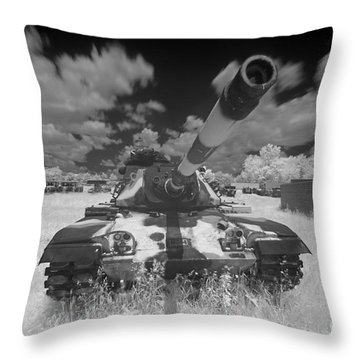 Throw Pillow featuring the photograph Army Tank Infrared by Martin Konopacki