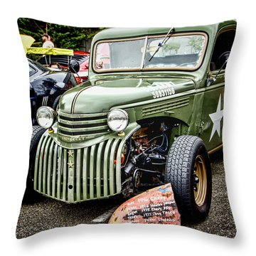 Army Truck Throw Pillow by Ron Roberts