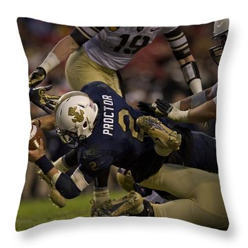 Army Versus Navy Throw Pillow by Mountain Dreams