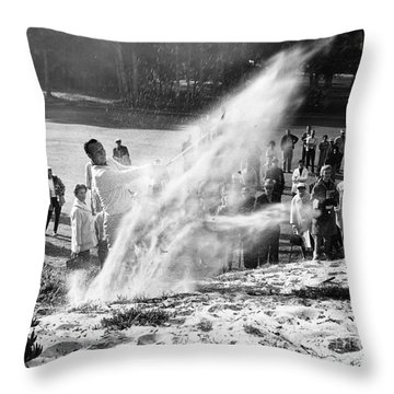 Arnold Palmer At Pebble Beach California Rey Ruppel Photo Circa 1955 Throw Pillow