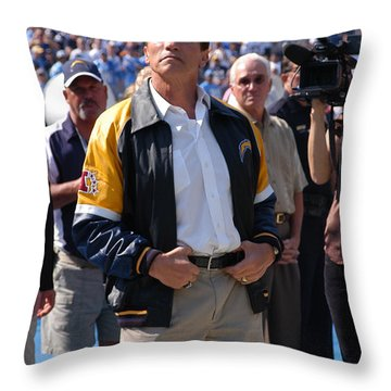 Arnold Schwarzenegger  Throw Pillow by Mountain Dreams