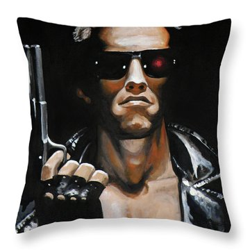 Arnold Schwarzenegger - Terminator Throw Pillow