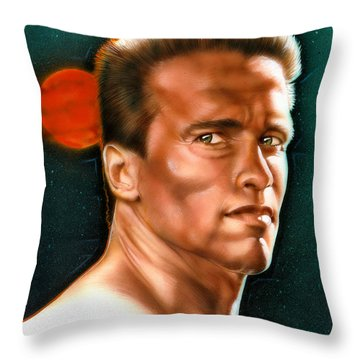 Arnold Throw Pillow by Timothy Scoggins