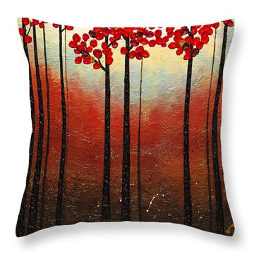 Aroma Do Campo Throw Pillow by Carmen Guedez