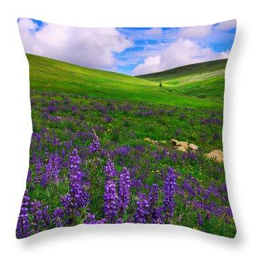 Throw Pillow featuring the photograph Aroma Of Summer by Kadek Susanto