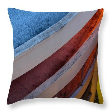 Around And Down Throw Pillow