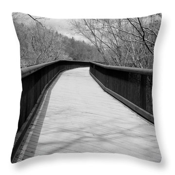 Throw Pillow featuring the photograph Around The Bend by Kristen Fox