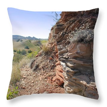 Around The Corner Throw Pillow by Kathleen Scanlan