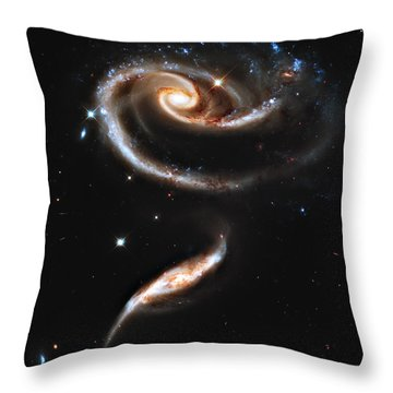 Arp 273 Rose Galaxies Throw Pillow