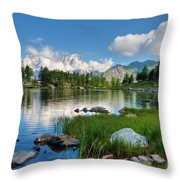 Arpy Lake - Aosta Valley Throw Pillow
