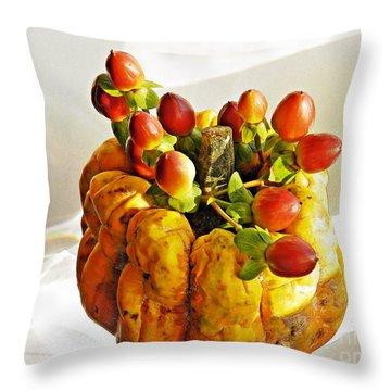 Arrangement On Squash 2 Throw Pillow by Sarah Loft