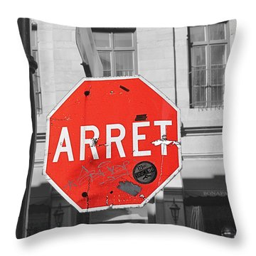 Arret Throw Pillow