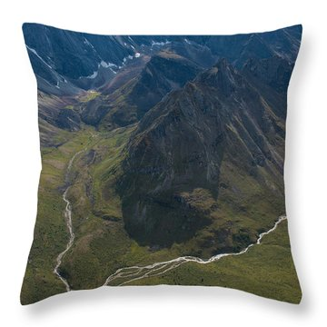 Arrigetch Peaks Throw Pillow