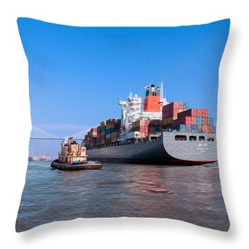 Arrival At Savannah Throw Pillow