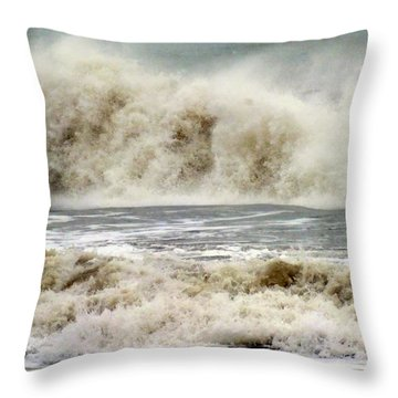 Arrival Of Sandy Throw Pillow by Karen Wiles